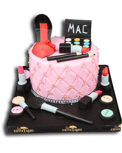 Makeup Kit Birthday Cake